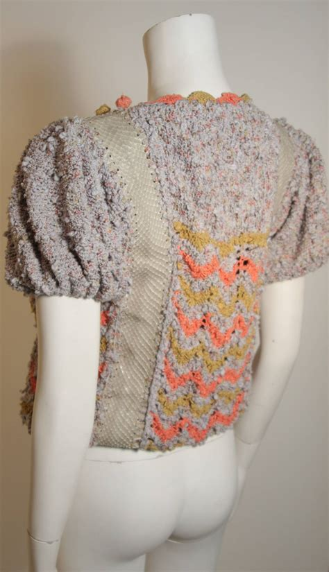 norma handmade knit sweater with snakeskin inserts for