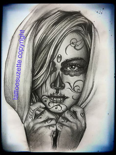 muerte tattoo design santa muerte design by tattoosuzette on deviantart
