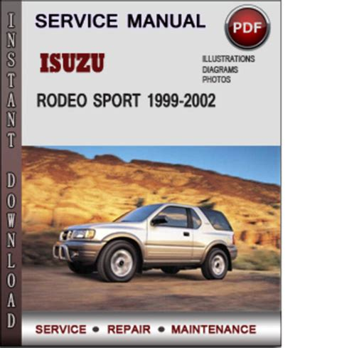 free car manuals to download 1998 isuzu rodeo user handbook service manual 2000 isuzu rodeo workshop manuals free pdf download service manual 2000 isuzu