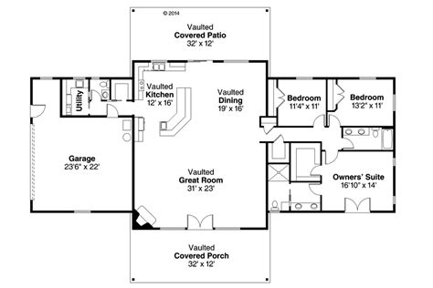 ranch home layouts ranch style house plan 3 beds 2 5 baths 2402 sq ft plan