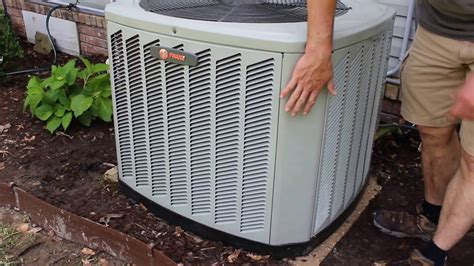 trane air conditioner covers how to remove shroud cover from trane xb13 air conditioner