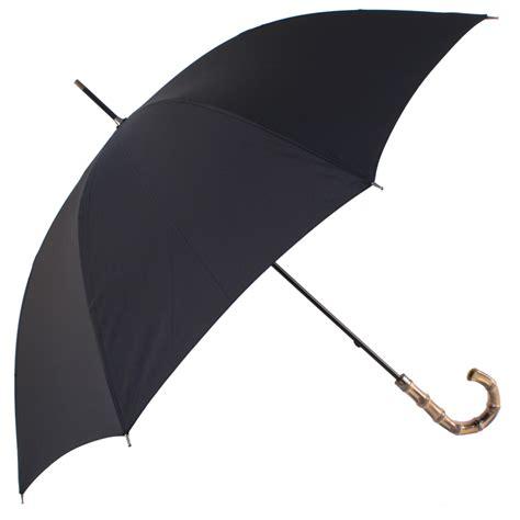 black umbrella gents black umbrella with bamboo handle brolliesgalore