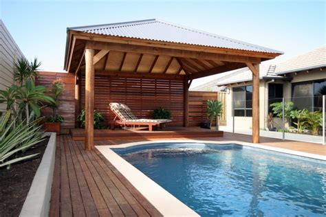 cabana designs modern skillion roof cabana