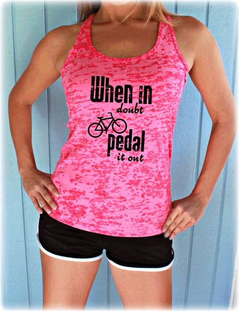 When In Doubt Pedal It Out when in doubt pedal it out tank top womens cycling