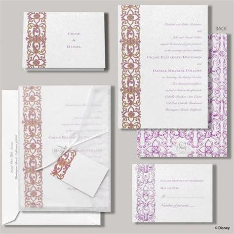 pattern swirls princess themed wedding invitation disney tale wedding
