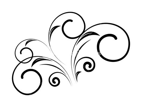 Chape Decorative by Decorative Swirl Floral Shape Vector Design Royalty Free