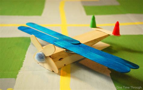 airplane crafts for clothes peg planes craft one time through