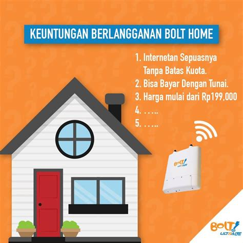 Wifi Bolt Rumah Paket Bolt Home Unlimited Untuk Di Rumah