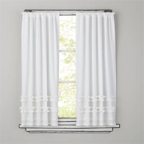 white ruffled curtains for nursery curtains bedroom nursery the land of nod