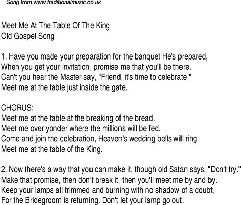 Come To The Table Lyrics by Meet Me At The Table Of The King Christian Gospel Song