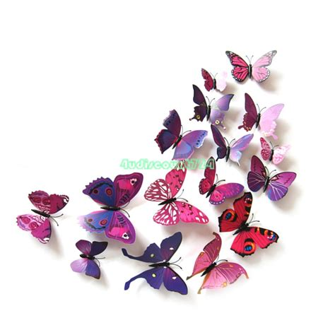 butterfly wall stickers 3d 3d removable butterfly wall stickers flower diy decal mural home decoration