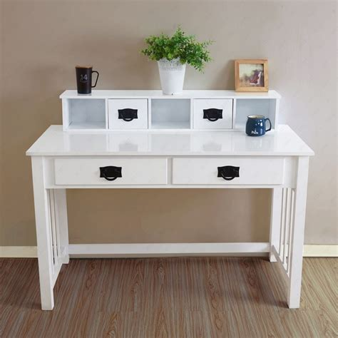 Computer Desk Laptop Table Workstation Drawer Wood Home Office Desk Furniture For Home