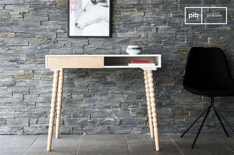 lade anni 70 escritorio katalina con caj 243 n madera blanca laqueada pib