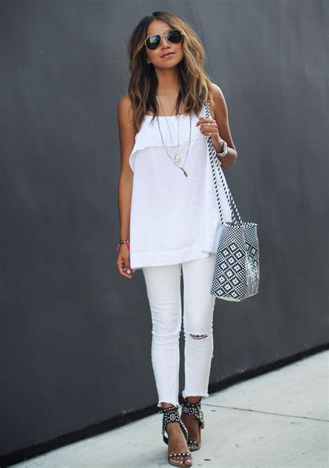 all white outfit on pinterest white outfits white style tips on what to wear with white jeans the white