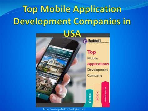 mobile application development companies top mobile application development companies in usa