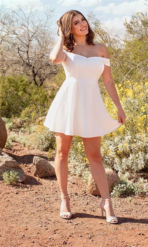 kalani hilliker short white grad dress promgirl
