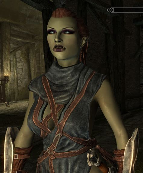 skyrim orc female face female orc save file at skyrim nexus mods and community