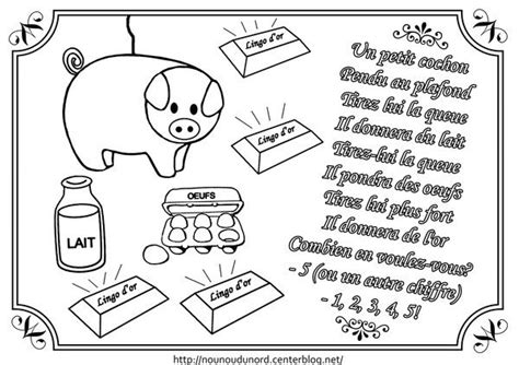 Trois Petit Cochons Pendu Au Plafond by Un Petit Cochon Coloriage Comptines Petits