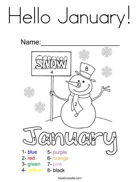 january coloring pages for toddlers hello january coloring page twisty noodle