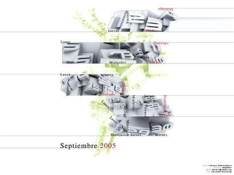 Calendario Octubre 2005 Calendario Dise 241 O A 241 O 2005 Almanaque Mes 2005