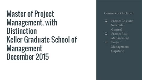 Keller Mba Project Management by Visual Resume For Ed Tsyitee Jr Capm