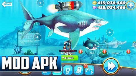 hungry shark world mod apk sharks unlocked   images play hacks shark tool hacks