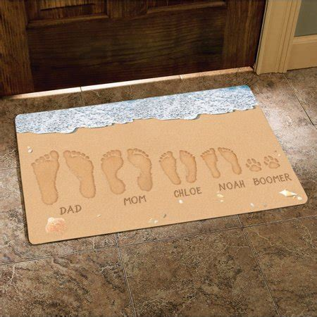 Personalized Doormats by Personalized Footprints Doormat 17 Quot X 27 Quot Walmart