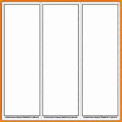 word bookmark template 8 bookmark template word cashier resume