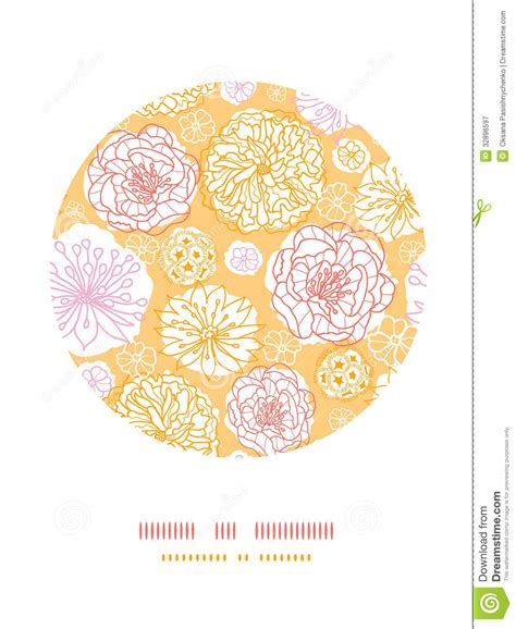 fashion elegant background with hand drawn flowers royalty warm day flowers circle decor pattern background royalty