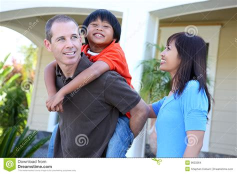 asian family at home stock images image 9633264