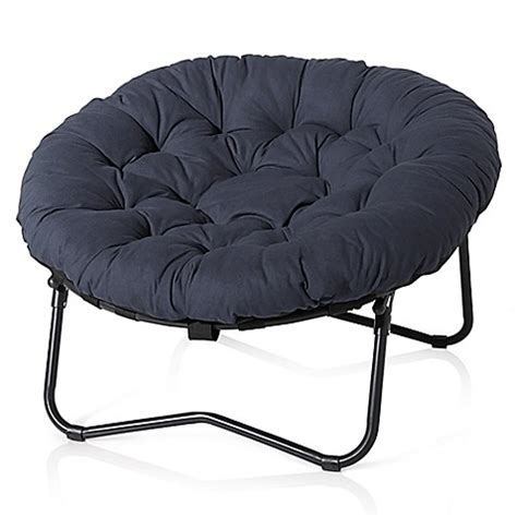 papasan bed foldable oversized papasan chair in indigo bed bath beyond