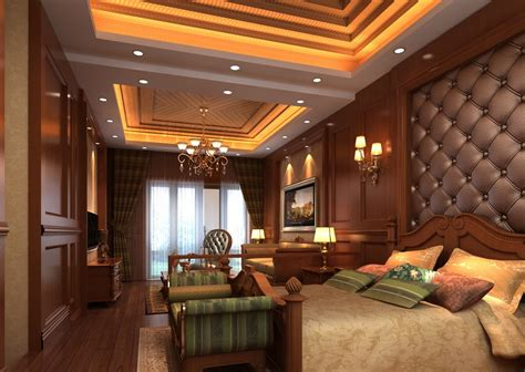Classic Home Interior Design by New Modern Wood Decoration American Bedroom Interior 3d