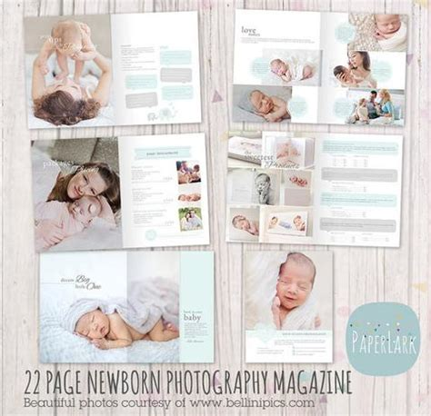 22 page newborn photography magazine template pg012