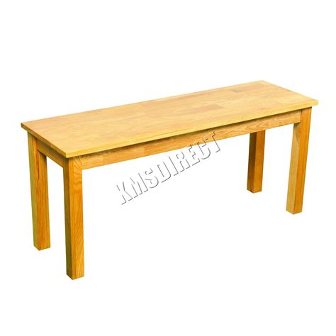 wooden dining table with bench seats foxhunter solid oak furniture dining bench wooden seat
