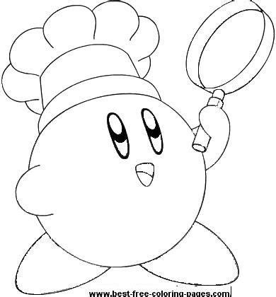 kirby pattern lab click to print chef kirby coloring page birthday ideas