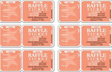 7 raffle ticket template free authorizationletters org