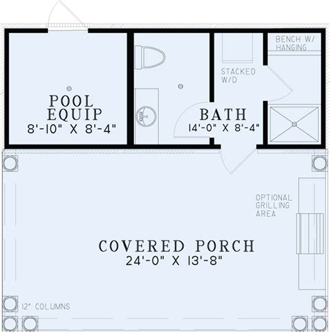 pool guest house floor plans