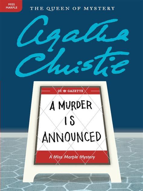 a murder is announced a murder is announced agatha christie