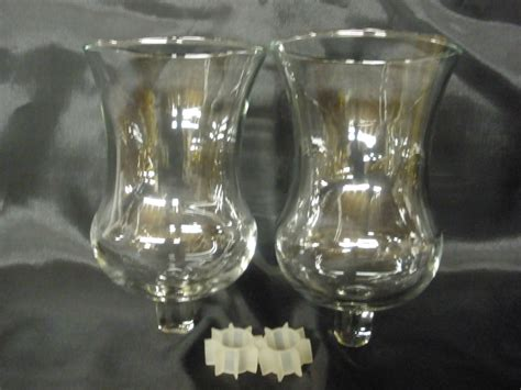Home Interiors Votive Cups by Vintage Home Interiors Traditional Clear Votive Cups Set 2
