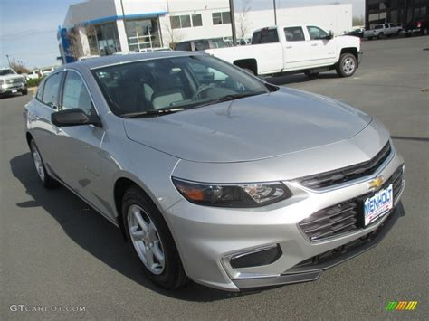 silver ls with white shades 2016 silver ice metallic chevrolet malibu ls 112317111