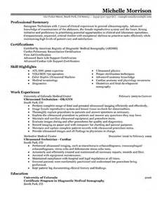 Sonogram Technician Sle Resume by Best Photos Of Ultrasound For Resume Curriculum Vitae Resume Ultrasound Resume