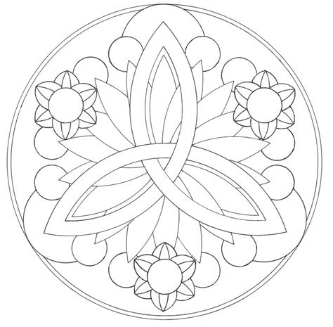 Easy Mandala Coloring Pages Car Interior Design Mandalas To Color Easy