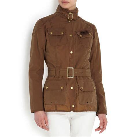 Bbb New Vintage Denim Jacket Intl barbour vintage international waxed cotton jacket in brown lyst