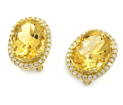 Yellow Citrin citrine and earrings citrine earrings at macy s