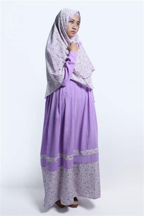 Khimar Adzkia gamis hasna lavender anizah khimar gamis syar i fesya