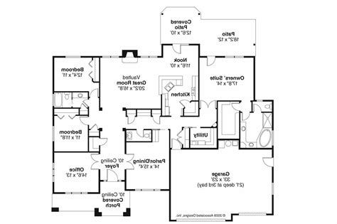 Style House Floor Plans by Prairie Style House Plans Creekstone 30 708 Associated