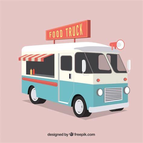Food Truck Design Vector | retro food truck vector free download