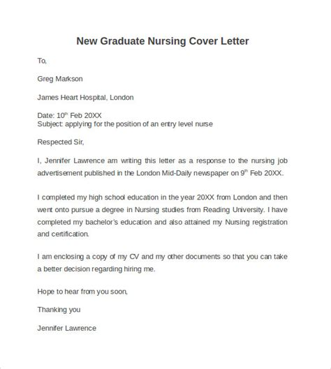 sle cover letter nursing new grad new graduate cover letter 28 images new grad cover