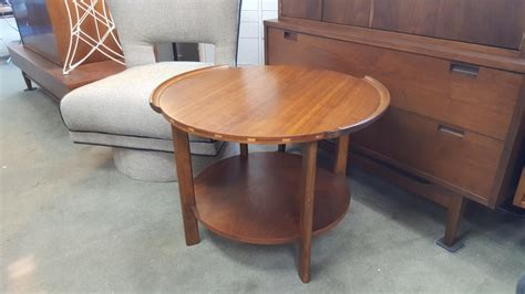 mid century modern walnut side table by