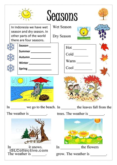 clothes for different seasons worksheet season ingl 234 s pinterest seasons printables and